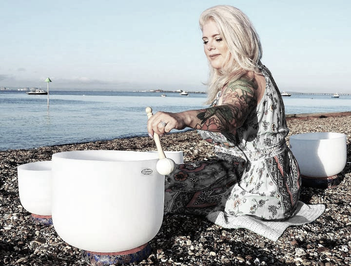 Soundbath on the beach