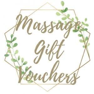 Massage gift vouchers