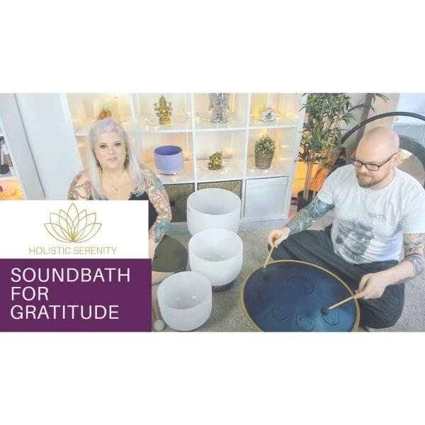 online soundbath gratitude