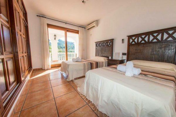 villa bedroom Ibiza