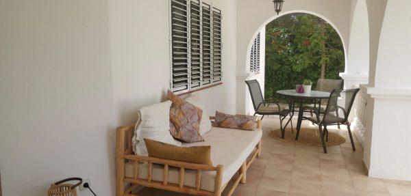 Villa front porch ibiza