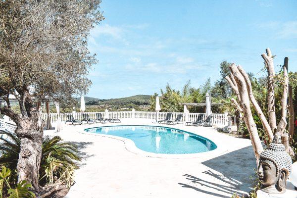 retreat villa pool ibiza