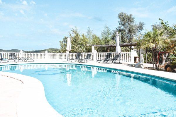 Swimming pool at the villa in Ibiza